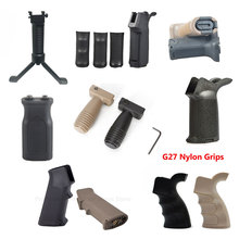 TOtrait Tactical Pistol Grip QD Vertical Grip Folding Bipod Grip Handle Foregrip for Hunting Airsoft M4 M16 AR15 Rifle Accessory