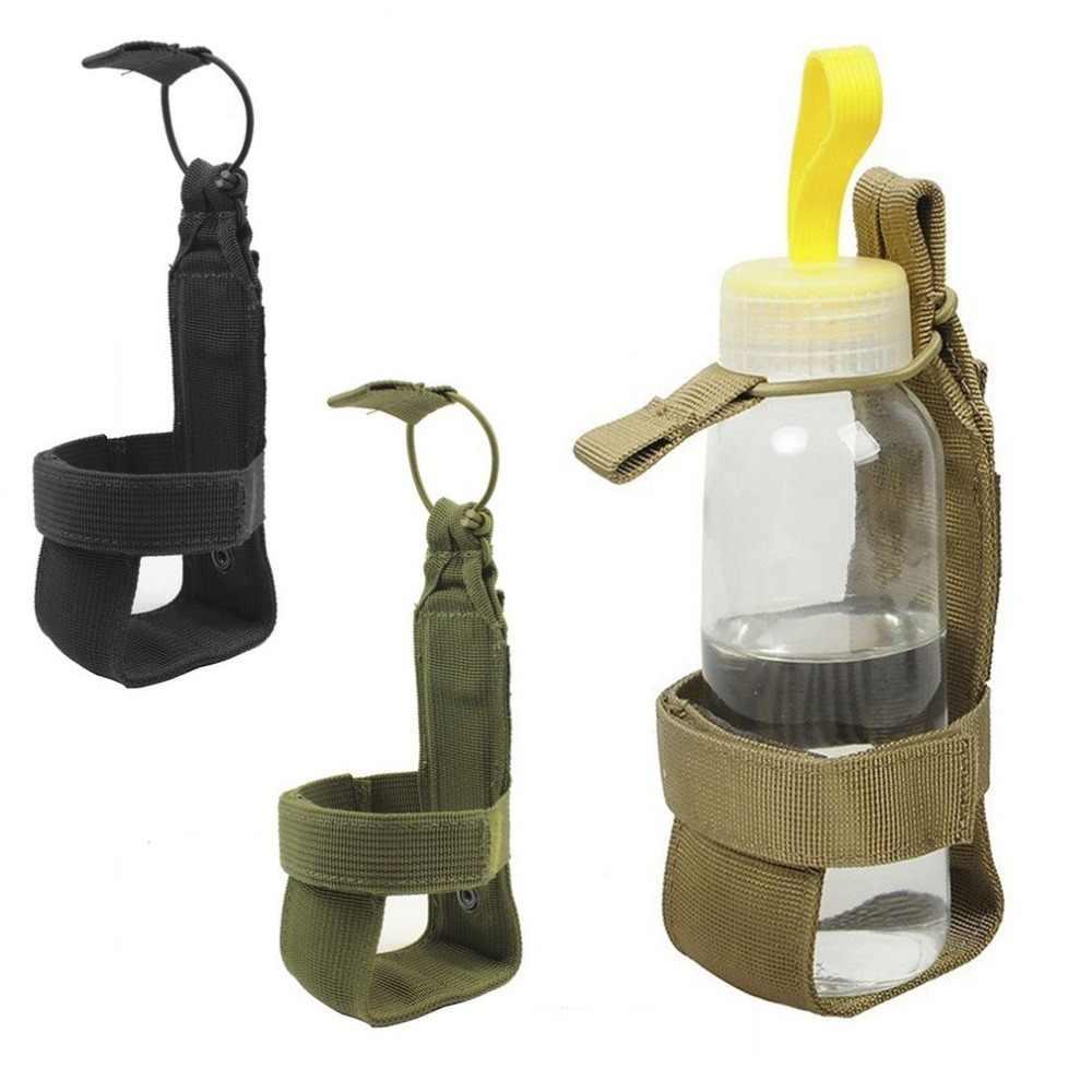 10*7cm Militärische Taktische Wasser Flasche Pouch Männer Frauen Nylon Einstellbare Magic Tape Camping Wandern Wasserkocher Tasche Im Freien werkzeug