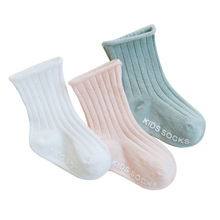 3 Pairs/Lot Children Socks High Quality Kids Cotton Solid Newborn Baby