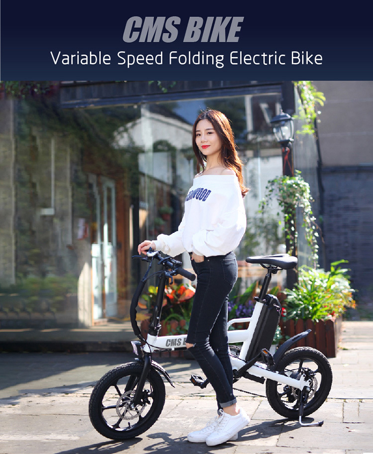 "16"" folding variable speed city folding ebike with aluminium alloy frame 1"