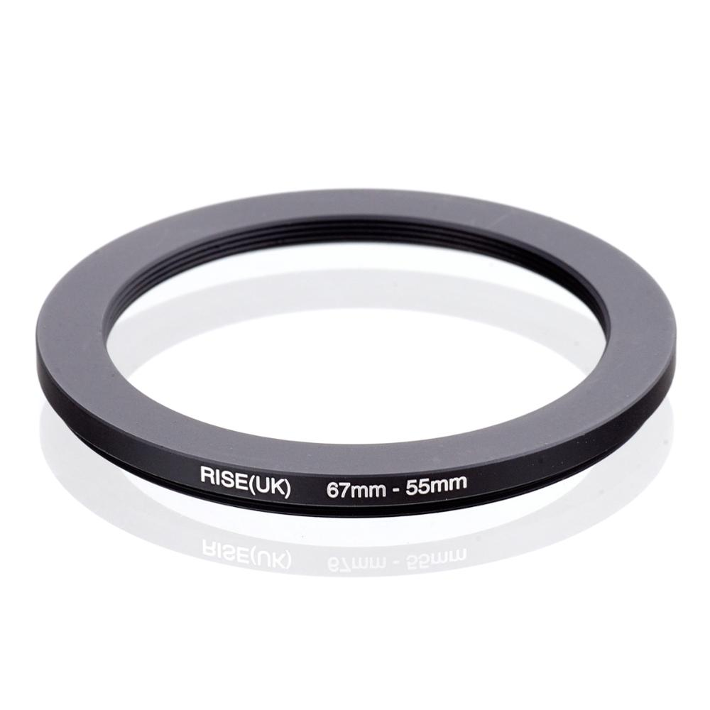 RISE(UK) 67mm-55mm 67-55 Mm 67 To 55 Step Down Filter Ring Adapter