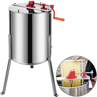 VEVOR-Extractor de miel Manual, giratorio de panal de abeja de acero inoxidable de 4 marcos, centrifugadora de abejas, suministros de equipo de Apicultura