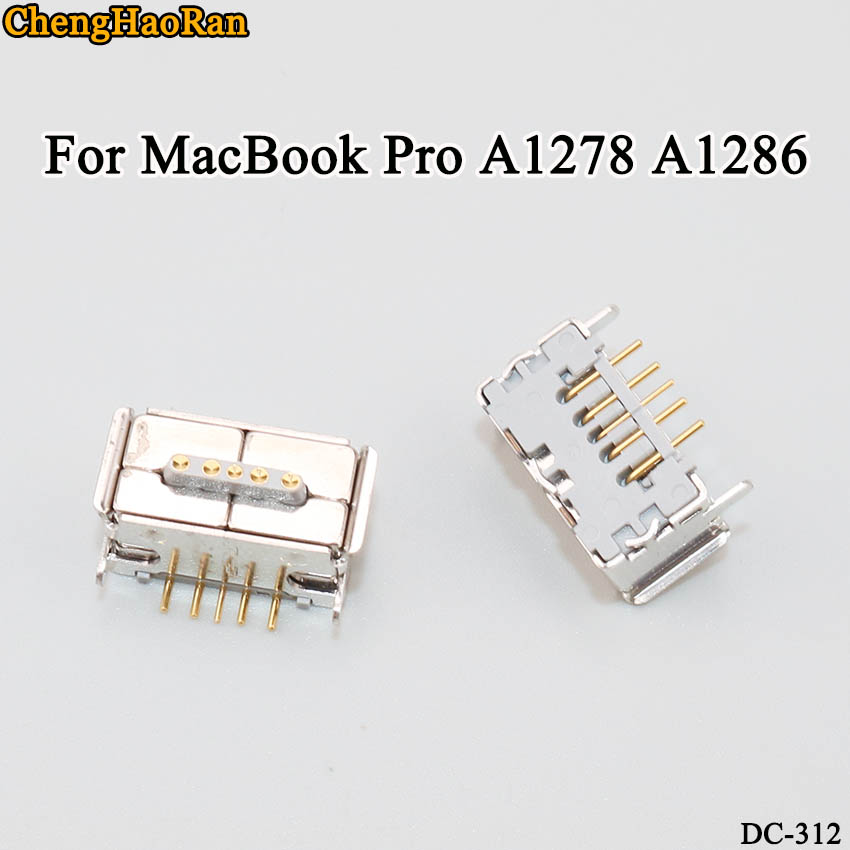 ChengHaoRan 2pcs/lot For MacBook Pro A1278 A1286 power connector head white with pin DC power socket