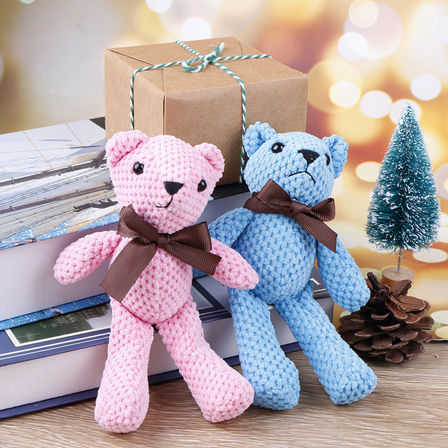 18CM Mini Teddy Bear Stuffed Plush Toys Cute White Teddy Bears Pendant Dolls Gifts Birthday Wedding Party Decor Uncategorized Decoration Stuffed & Plush Toys Toys