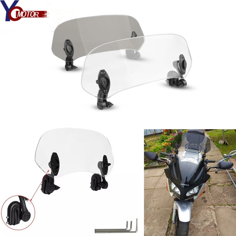 Motorcycle Risen Adjustable Windscreen Windshield Extend Air <font><b>Deflector</b></font> for HONDA NC750C <font><b>NC750X</b></font> Glod Wing 1800 NC700V CB1100 image