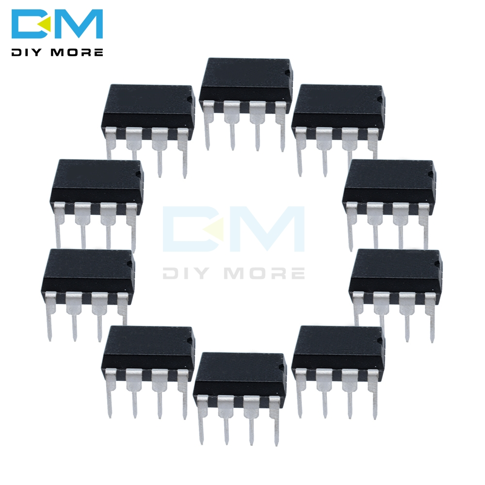 10PCS Lot NE555 NE 555 NE555P DIP-8 DIP 8 SINGLE BIPOLAR TIMERS IC CHIP Diymore