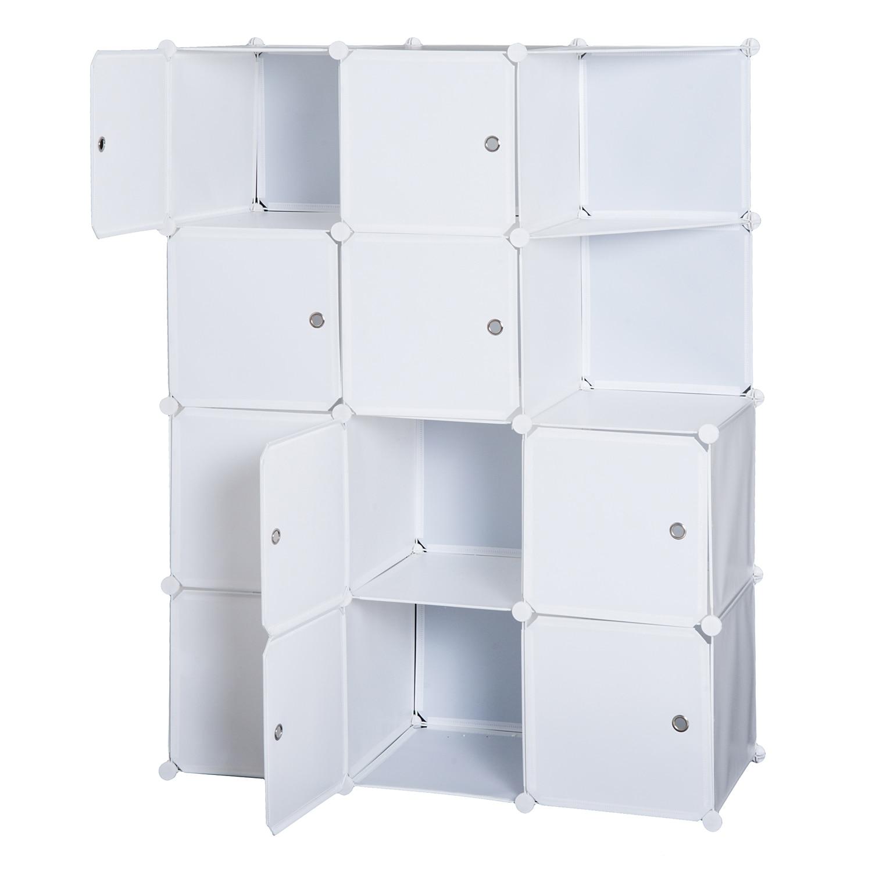 HOMCOM armario estante 10 gabinete cúbico modular 111 × 47 × 145cm blanco Mantel con diseño de flores de estilo europeo, mantel blanco de lino y algodón con agujeros, mantel a prueba de polvo para bodas, banquetes y TV