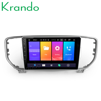 Krando Android 9.0 10.1 IPS Full touch Big Screen car multimedia player for Kia Sportage 2016+ radio navigation gps No 2din DVD image
