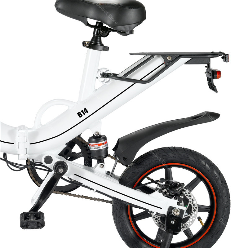 EU Stock Folding Electric bike 2 Wheels Electric Bicycles 14 Inch 400W 48V 15Ah Adult Electric Bicycle With Double Brake (24)
