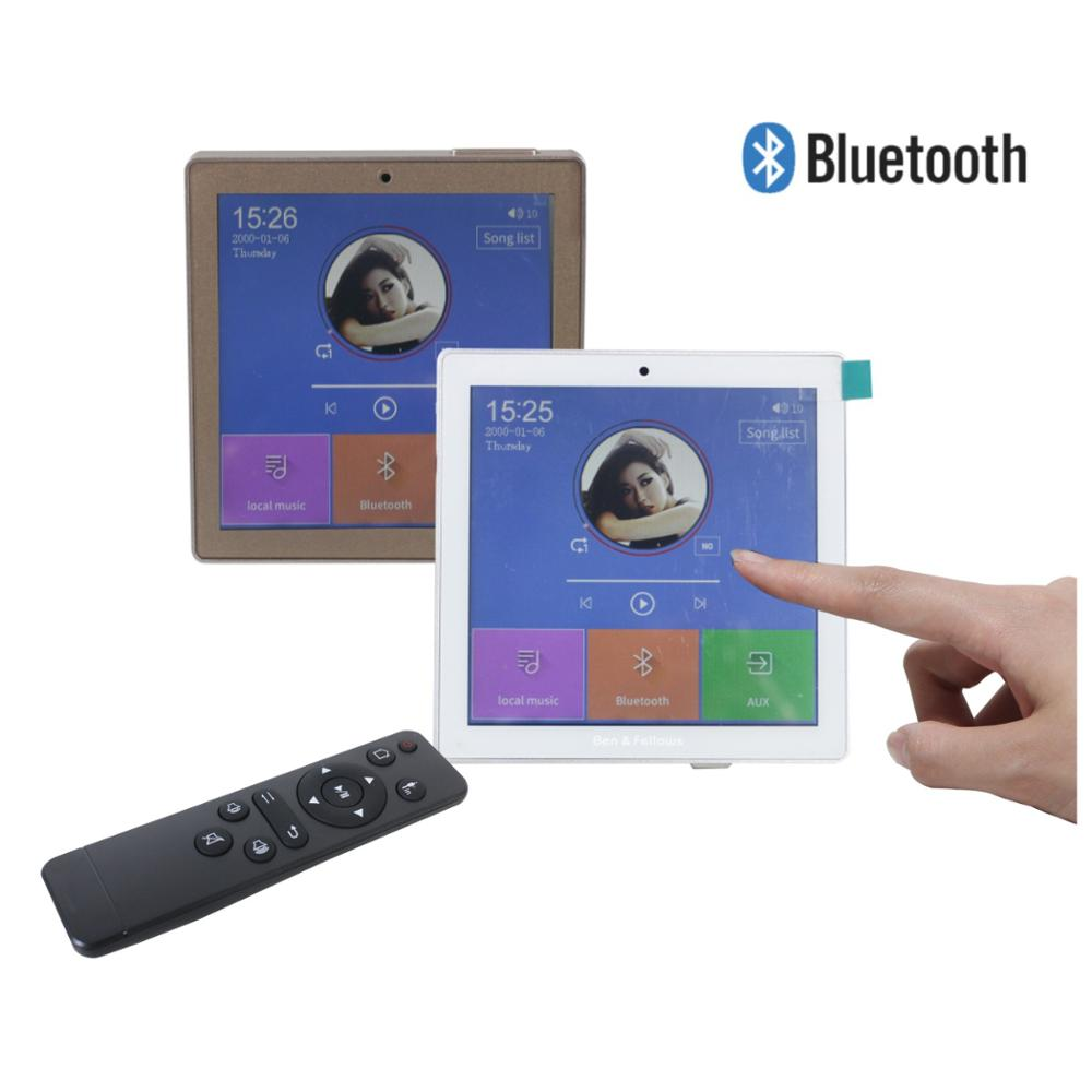 2/4 Channel Wireless Bluetooth Wall Amplifier With Touch Screen FM Radio,USB,TF,power 2 To 8 Speakers For Smart Home Audio