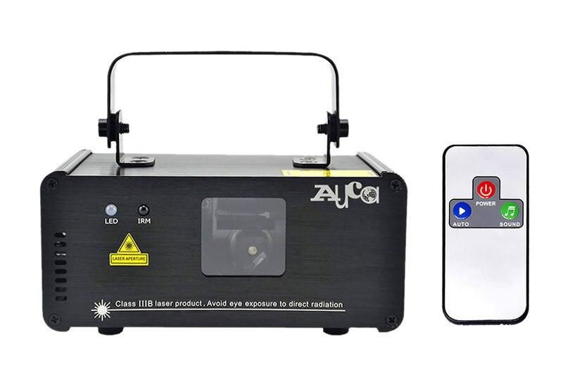 Mini IR Remote Sound Beam Scan 200mW Luces láser cian verde azul 8 - Iluminación comercial - foto 6