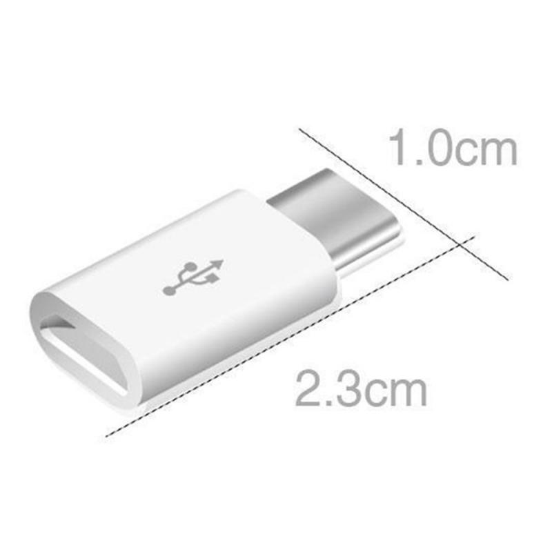 5pcs Type-C Female Connector To Micro USB 2.0 Male USB 3.1 Converter Data Adapter High Speed Android Cell Phone Accessories
