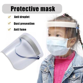 Kids Adults Protective Anti Splash Dust-proof Full Face Cover Mask Visor Shield Health Protection Mask Transparent Hat