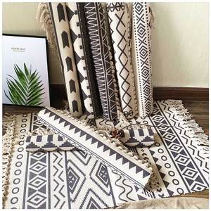 Floor Rugs Carpets Mattress Foot-Pad Tassel Welcome Bedroom Prayer Cotton Home Weave