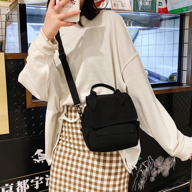 New 2020 Simple Canvas Crossbody Bag Versatile Fashion