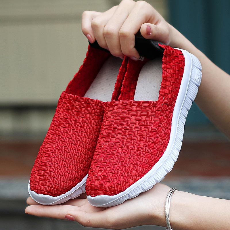 Summer Man Sport Shoes Women Sneakers Man Brand Running Shoes Male Sports Shoes Training Lightweight Red Designer Trainers A-379