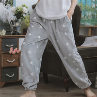 Autumn Women's Casual Pajama Pants Men Fleece Lounge Sleep Bottoms Warm Flannel Couple Homewear Trousers Plus Size Sleepwear