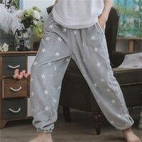 Autumn Women's Casual Pajama Pants Men Fleece Lounge Sleep Bottoms Warm Flannel Couple Homewear Trousers Plus Size Sleepwear