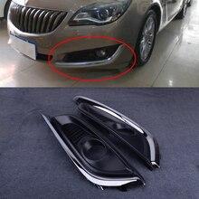 Lamp-Cover Buick Regal Front-Chrome Bumper Fog-Light Black 1-Pair Fit-For