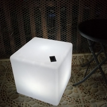 Stool Chair Cube Lighting-Furntiure Seat LED with 16-Color Changing-Control by Remote-Ktv-Bar