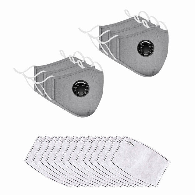 Reusable and washable mask 6pc with 13 filters
