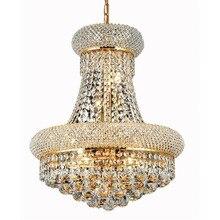 Phube Illuminazione Impero Francese Oro Lampadario di Cristallo del Bicromato di potassio Lampadari Illuminazione Moderna Lampadari di Luce + Trasporto libero!