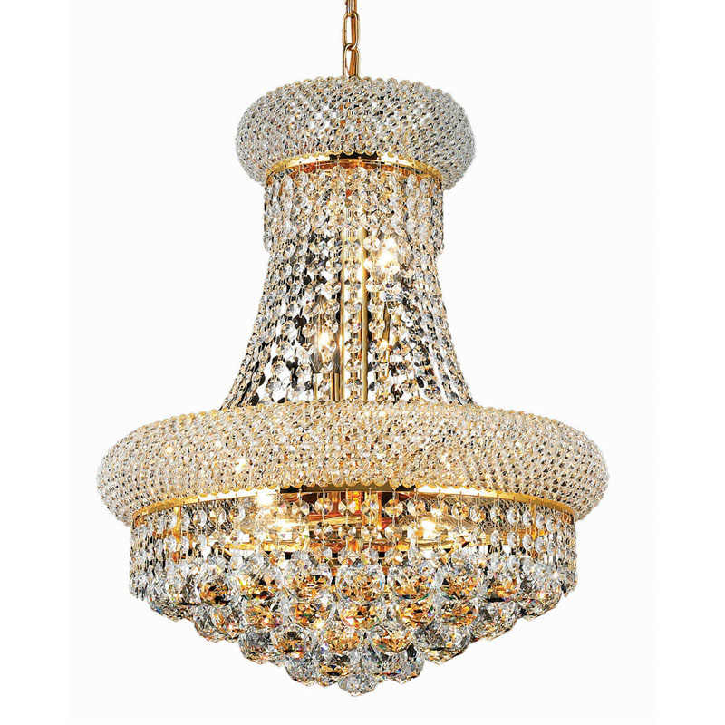 Phube Lighting French Empire Gold Crystal Chandelier Chrome Chandeliers Lighting Modern Chandeliers Light +Free shipping!
