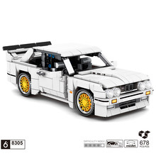 Teknik almanya marka klasik spor araba BM E30 yapı taşı modeli geri çekin araç tuğla oyuncaklar koleksiyonu erkek hediyeler