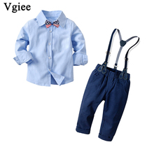 Vgiee Boys Fall Outfits for Wedding Birthday Party Children Solid Winter Fall Kids Set Fall Clothes Baby Boy Set CC748