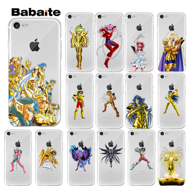 Babaite Anime Saint Seiya Transparent Weiche Shell Telefon Abdeckung für Apple iPhone7 8 6 6S Plus X XS MAX 5 5S SE XR Handys image