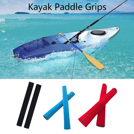 1 Pair Non-Slip Boat Paddle Soft Grips Kayak Rubs Blisters Calluses Protector