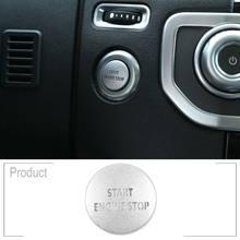 Para interruptor de botão do carro capa para lr4 & range rover sport 10-13 prata início do motor decoração estilo do carro acessórios auto bom
