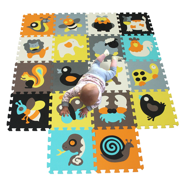 18 pieces Baby Play Mats pattern Child mat carpet puzzle Crawling Mat Baby Crawling Rug Mat Children Rug Kids Toys chicken dogBaby & Toddler Toys