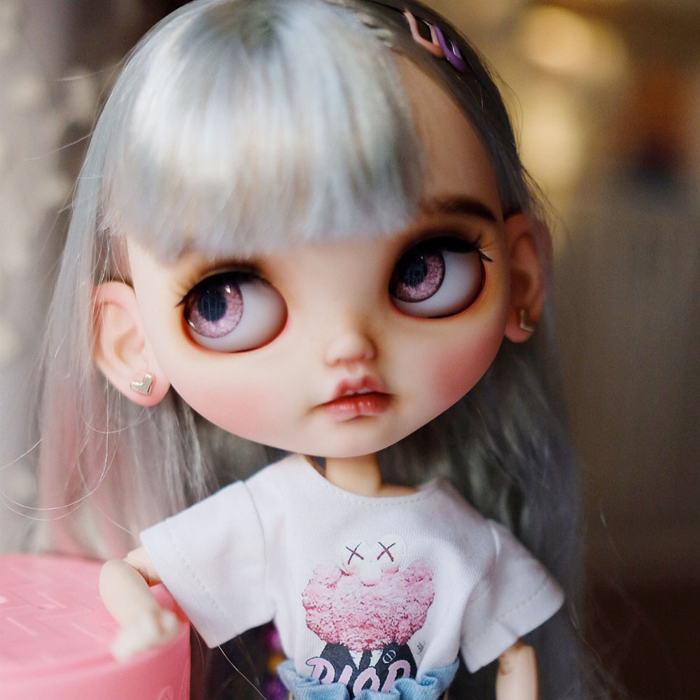 Blyth Doll NBL 1/6 BJD Customized Frosted Face,big Eyes Fashion Girl Makeup Ball Jointed Doll Children's Fun Series 3