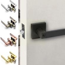 Door Handle Lock For Interior Doors With Lock Cylinder/ Door Duty Lock Set Heavy Accessories Handles Security Q1k7
