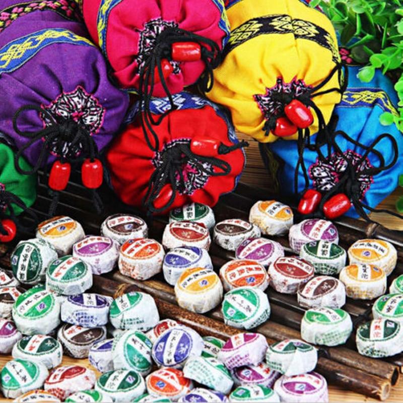 50pcs Different Flavors TUOCHA Chinese Yun Nan Bag Gift for Health Care Mini Tuo Cha