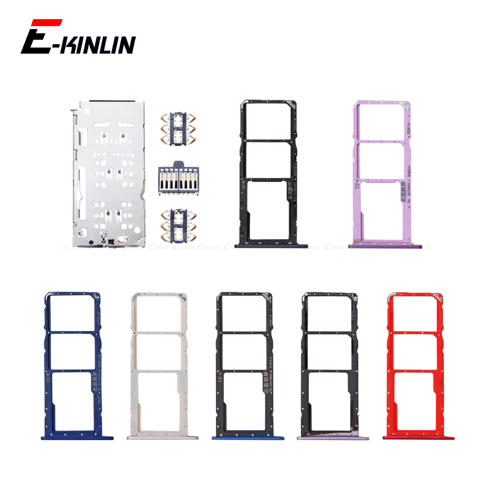 Sim Micro SD Card Socket Holder Slot Tray Reader For HuaWei Honor 8C 8X 8A Pro Adapter Container Connector Replacement Parts