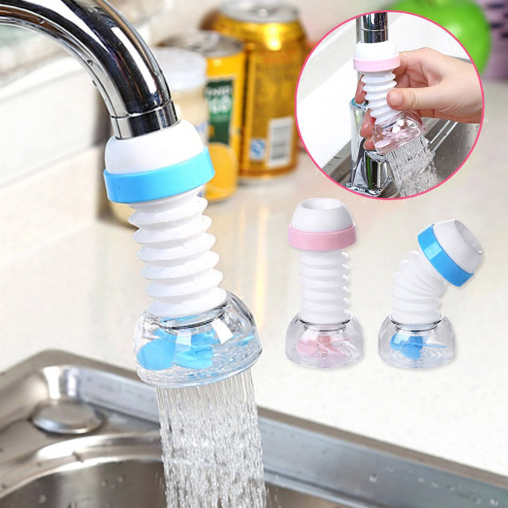360 Degree Rotatable Water Faucet Aerator Bubbler Swivel Head Water Saving Faucet Aerator Nozzle Tap Adapter Device