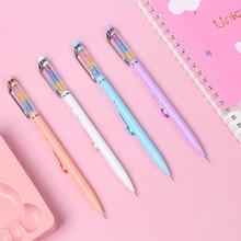 2Pcs/lot 0.5 Mm Rainbow Diamond Mechanical Pencil Simple Fresh Automatic Set for School Supplies Kawaii Stationery