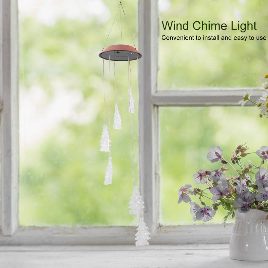 LED Solar Powered Wind  Lamp Color Changeable For Festival Party Indoor Room Decoration Light
