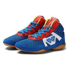 Детская Студенческая борцовская обувь легкая Нескользящая боксерская обувь для мальчиков и девочек боевое искусство тренировочная обувь D0879