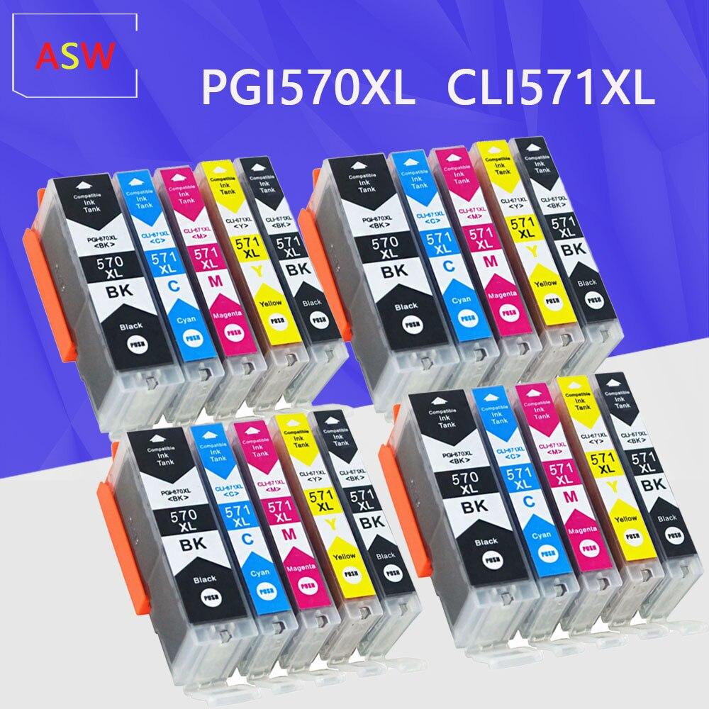 Чернильный картридж для Canon PGI 570 CLI 571 PGI570 XL Pixma MG5750 MG5751 MG5752 MG6850 MG7750 MG6853 MG7753 TS5050 TS5051