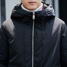 Отдельная станция зимнее Мужское пальто с хлопковой подкладкой плюс бархат большой размер свободный крой пальто с капюшоном