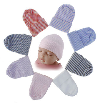 цена на 8 Colors New Newborn Baby Striped  Beanie Hats Beanie Ultra-Soft Material Yarn Baby Knitted Hat Set Head Cap For Baby Accesories