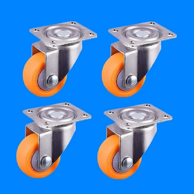 32mm / 1.25inch 17kg Nylon Swivel Casters Wheels for Trolley Flight Case Furniture 4pcs Set