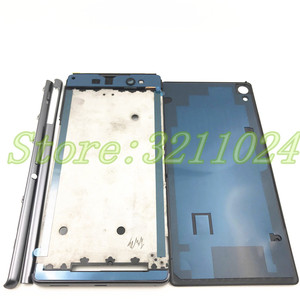 Image 2 - Full Housing Middle Front Frame Bezel Housing For Sony Xperia XA Ultra C6 F3215 F3216 F3212+ Side Rail Stripe with Side Buttons