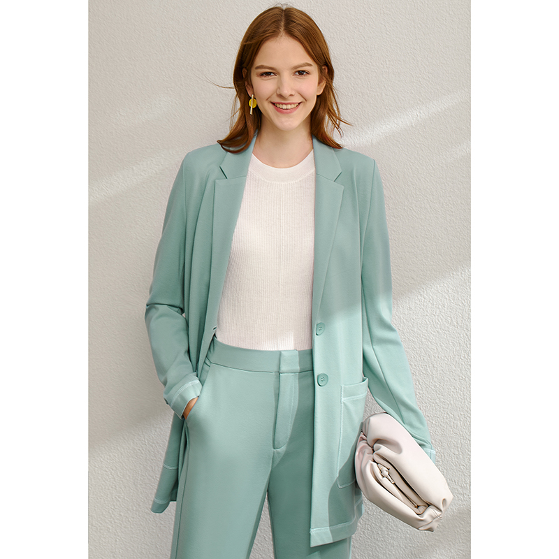 Office Lady Two Pieces Set Blazer & High Waist Pants