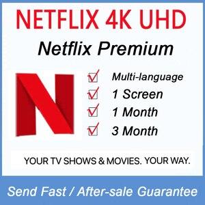 4K Cuenta de Netflix netflix 1 mes 3 mes 1 españa francés italiano mundial netflix premium para tv stick portátil teléfono