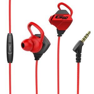 Image 4 - Hi Fi stéréo filaire écouteur dans loreille casque écouteurs basse écouteurs pour IPhone Samsung 3.5mm Sport jeu casque avec micro dynamique