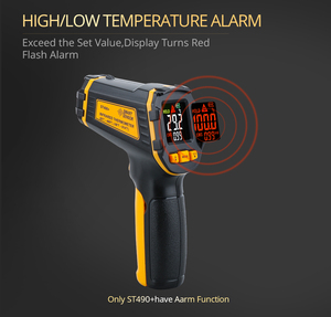 Image 3 - Digital Infrared Thermometer Laser Temperature Meter Non contact Pyrometer Imager Hygrometer IR termometro Color LCD Light Alarm